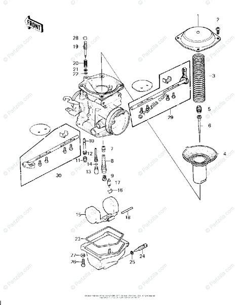 kawasaki motorcycle  oem parts diagram  carburetor