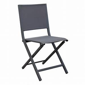 Chaise Pliante Florence Aluminiumtextilne Gris Gamm Vert