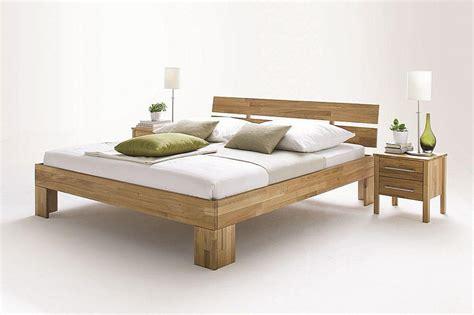 Bett 160x220, Kopfteil Geteilt, Wildeiche Massiv Geölt
