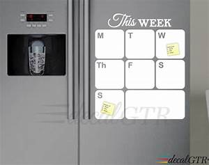 fridge calendar decal fridge dry erase weekly planner decal With kitchen cabinets lowes with dry erase stickers