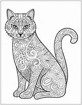 Coloring Cat Cats Adult Pages Adults Printable Stress Colouring Relieving Patterns Designs Mandala Books Dogs Drawing Animal Zentangles Dog Template sketch template