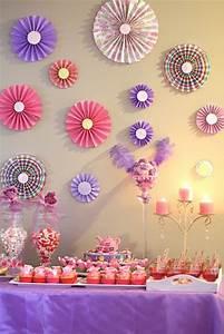 Photo of tea party birthday quot purple pink