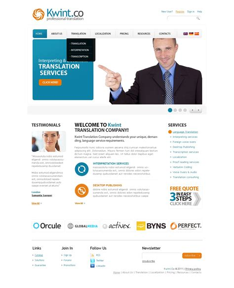 translate bureau translation bureau website template 32459