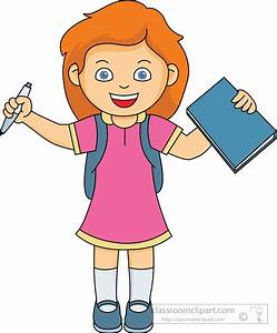 School Girl Clipart - ClipartXtras