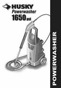 Husky Pressure Washer 1650 Psl User Guide