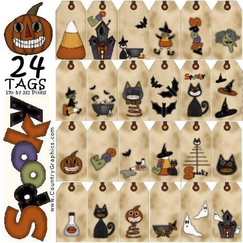 spooky printable halloween hang tags country graphics