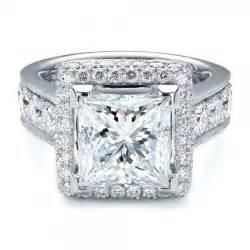 jewelry engagement rings custom princess cut and halo engagement ring 100124