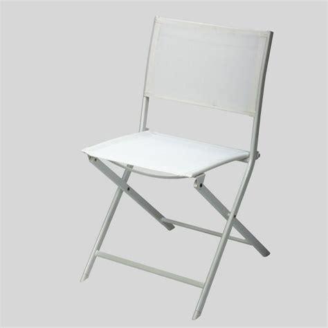 chaise pliante blanche chaise pliante blanche en acier achat vente fauteuil