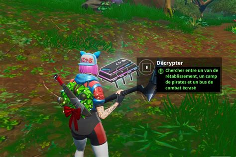 fortnite chercher entre  van de retablissement