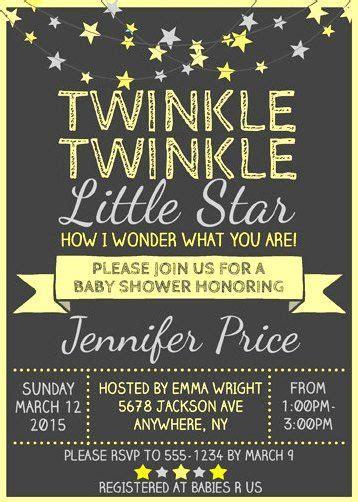 twinkle twinkle  star baby shower invitation wording