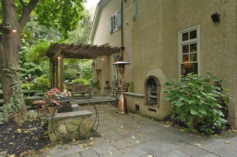 french tudor style home traditional patio newark