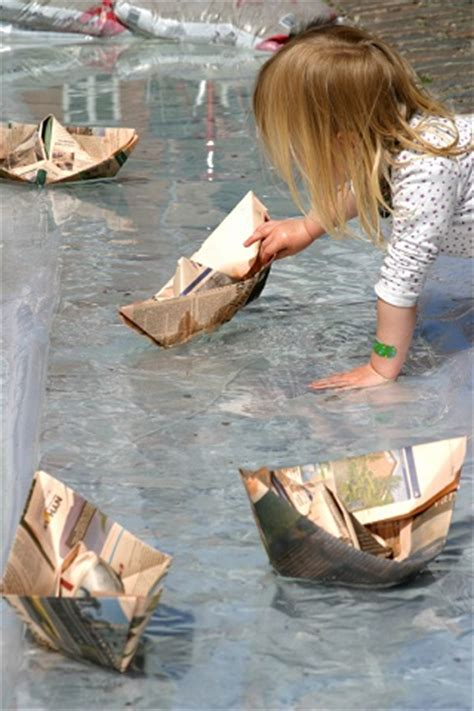 How To Make A Really Big Paper Boat by How To Make Paper Boats And Race Them With Your My