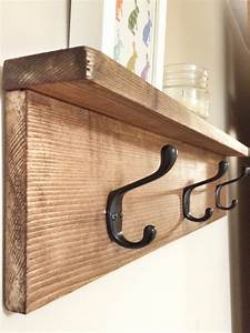 Rustic, Wooden, Coat, Entry, Hook, Rack, With, Shelf, Rustic, Home
