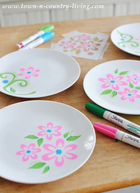 decorating dessert plates  sharpies town country