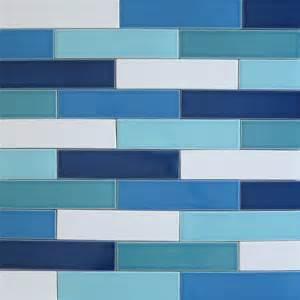 ceramic 2x8 subway tile blue splash kiln collection modwalls clayhaus multicolor wall