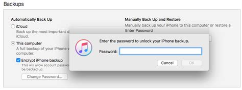 enter the password to unlock your iphone backup itunes quot enter the password to unlock your iphone backup