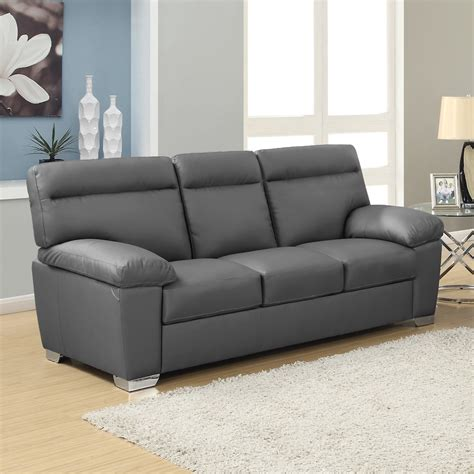 Grey Sofa by Alto Italian Inspired High Back Leather Sofa Collection In