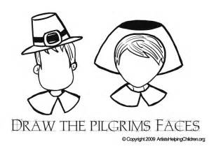 thanksgiving pilgrim faces draw pilgrims faces coloring pages printouts drawing activities