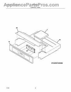 Parts For Frigidaire Fgew2745kfb  Control Panel Parts
