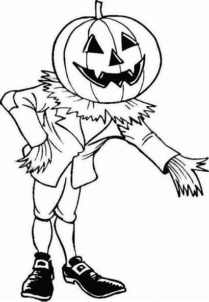 Coloring Pages Halloween Scary Pumpkin Gargoyle Invite