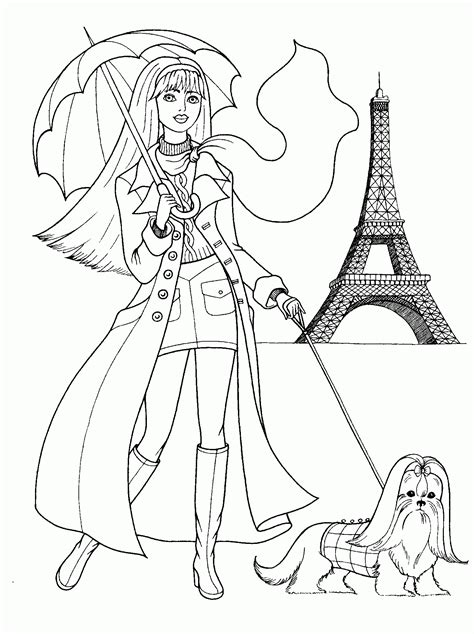 Fashion Coloring Pages For Girls Printable  Coloring Home