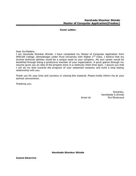 Cover Letter For Mba Finance Fresher by Best Resume Cover Letter Format For Freshers Govt Jobcover