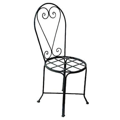 wrought iron chair for indoor or outdoor