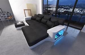 Sofa Mit Led Und Sound : designer big sofa milano mit ottomane und led licht kaufen bei pmr handelsgesellschaft mbh ~ Orissabook.com Haus und Dekorationen