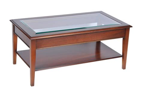 Bradley Yew 875 Glass Top Coffee Table