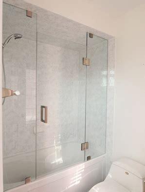 half glass shower door for bathtub frameless shower doors builders glass of bonita inc