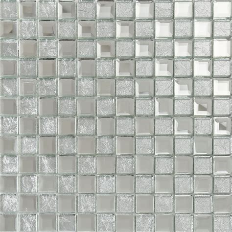 glass tile kitchen backsplash silver mirror glass tile square wall