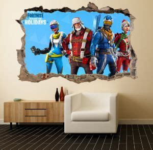 game fortnite wall sticker living room wallpaper fortnite
