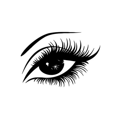 eye silhouette vector dxf file   axisco