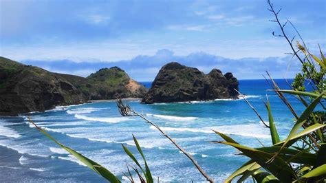 piha beach nouvelle zelande paysage fond decran apercu