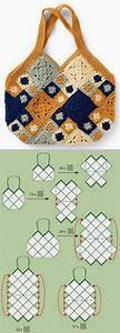 Inspiration    Granny Square Bag Layout