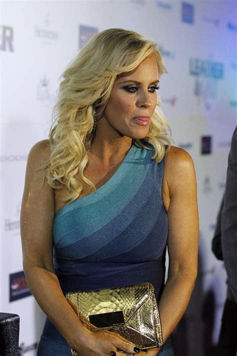 jenny mccarthy  leather laces super bowl party