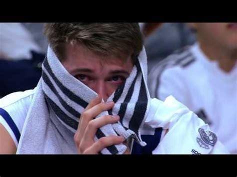 luka doncic  crying   bench coach laso comforting