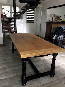Table Noir Et Bois : table d 39 atelier tous les messages sur table d 39 atelier barbatruc et r cup ~ Teatrodelosmanantiales.com Idées de Décoration