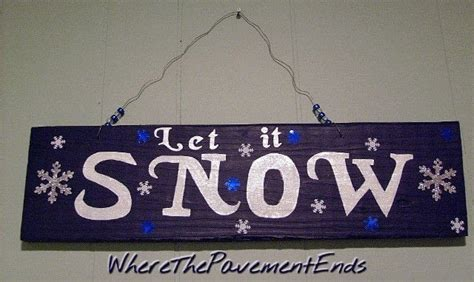 hand painted barn wood sign   snow  plaque sign