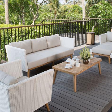 canap exterieur sofa 3 places canapé extérieur pob de sky line design