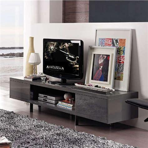 Banc Tv Gris by Banc Tv Design Laqu 233 Lucia Gris Atylia Meuble Tv Atylia