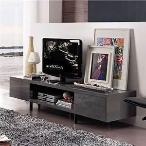 Meuble Tv Gris Laqué : meuble tv gris laque pas cher ~ Teatrodelosmanantiales.com Idées de Décoration