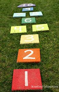Easy DIY Rainbow Paver Hopscotch - Happiness is Homemade