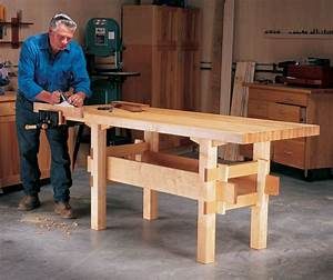 Wedged-Base Workbench - Popular Woodworking Magazine