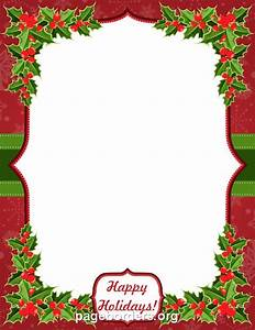 Christmas Border Word Printable Quot Happy Holidays Quot Border Use The Border In