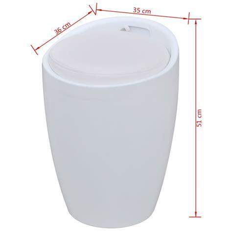 siege rond acheter tabouret abs rond blanc avec siège amovible blanc