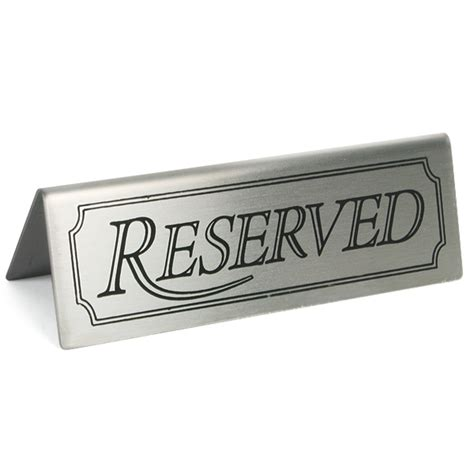 reserved sign reserved sign restaurant signs reserved signs buy at drinkstuff