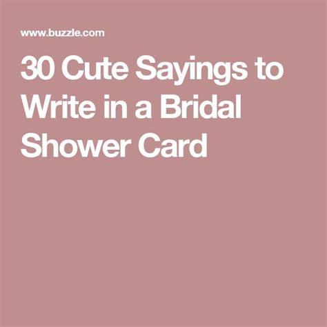 super cute sayings  write   bridal shower card cards wedding card wordings