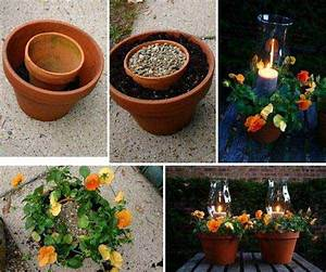 top 30 stunning low budget diy garden pots and containers With kitchen cabinets lowes with flower pot candle holder