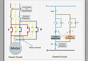 Single Phase Motor With Capacitor Forward And Reverse Wiring Diagram
